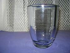 VASE STROMBERGSKY SWEDEN ART GLASS VASE HEAVY THICK PALE BLUE GORGEOUS