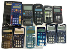 Mixed Lot Of 11 Ti Texas Instruments Calculators 30X Multiview Edge Working
