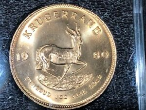1980 1oz South Africa Krugerrand Gold Coin in Protective Case