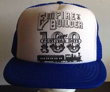 Empire Builder Trucker Cap Railroad Blue Otto Hat Snapback Havre 100 Days Years