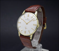 New Old Stock CYMA 60s dress 33mm vintage mechanical watch NOS 701 orig. strap!