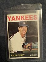 1964 Topps RALPH TERRY Nm/Mt Or Better Great Eye Appeal New York Yankees Rare