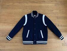 2017 GAP KIDS navy white Varsity Jacket Husky sz XL (14) Wool blend