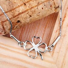 Genuine Real Pure Solid 925 Sterling Silver Bracelet Bangles Heart  Charms Gift