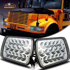 DOT LED Headlights Headlamps Upgrade for International 3800 School Bus Blue Bird