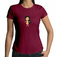 Juniors Girl Women Tee T-Shirt Gift Shirt Cute Princess Pocahontas Cartoon Movie
