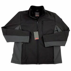 New Tumi Soft Shell Jacket Coat Soft Fleece Lining Men's Large Black $125