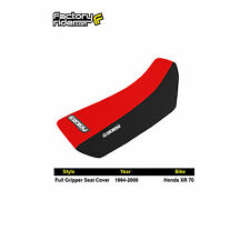 1994-2000 HONDA XR 70 Black/Red FULL GRIPPER SEAT COVER BY Enjoy MFG