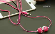 Mixed color cute 3.5mm hellokitty in-ear Headphone Headset music mp3 Earphone