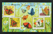 2001 IRELAND  DX218b  STAMPA  MEMBERS Butterflies MS SHEET - SCARCE
