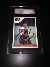 Peter Zezel Signed 1985-86 O-Pee-Chee Rookie Card OPC SGC Slabbed #AU153541