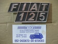 FIAT 125  BADGE REAR Metal Emblem Ornament  badge logo Oldtimer silver +  black