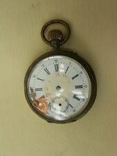Vecchio orologio da tasca 800 Argento Galonne difettoso