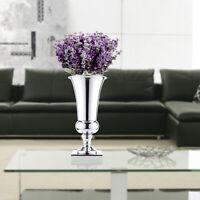 Large Stunning Silver Iron Luxury Flower Vase Urn Wedding Table 43cm Decor Gift