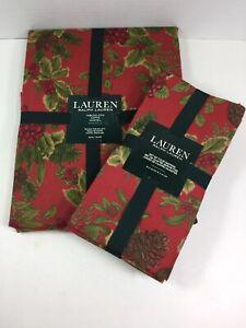 "NEW Ralph Lauren Birchmont 70"" ROUND TABLECLOTH & 4 Matching NAPKINS"