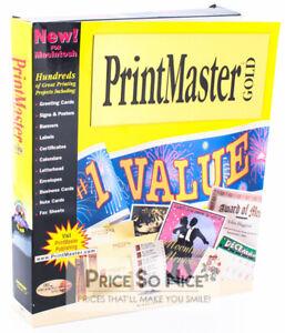 PrintMaster Gold - MAC Graphic Design And Printing Software - #1 VALUE - Big Box