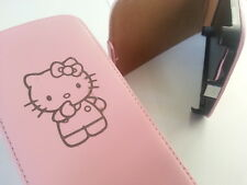 Samsung Galaxy S3 i9300 Hello Kitty Leder Rosa Flip Handy Case Cover Skin süß