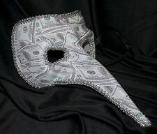 Da Uomo Lungo Naso Masquerade Maschera CON DOLLARO Bill Stampa Halloween VENEZIANO denaro