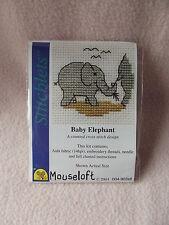 MOUSELOFT STITCHLETS CROSS STITCH KIT ~ BABY ELEPHANT ~ NEW