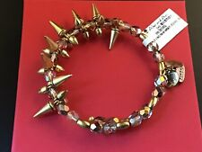 Alex and Ani Rock and Raw Spike Flame Russian Gold Wrap Bracelet