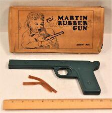 Vintage MARTIN Rubber Band Metal Gun Bird Target Original Box DETROIT c. 1920