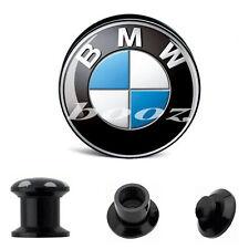 Ear Plug Flesh Tunnel BMW Logo Acrylic Screw Fit 6mm-25mm
