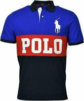 POLO RALPH LAUREN (BIG PONY) CLASSIC FIT BLUE RED NAVY MENS SZ LARGE L NEW NWT🔥