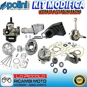 MAXI KIT GRUPPO TERMICO RACING + ALBERO MOTORE CONO 19 VESPA 125 PRIMAVERA