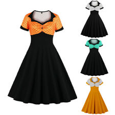50s 60s Summer Women Swing Vintage Retro Pinup Rockabilly Evening Party Dresses