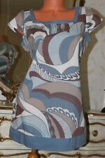 100(3) Marks & Spencer 100% cotton semi fitted top tunic mini dress  size 10