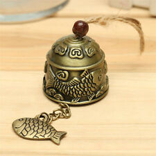 Hot Metal Bell Temple Garden Handmade Copper Fish Hanging Wind Chime 4*4cm