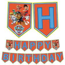 Paw Patrol PRINTABLE PDF File Happy Birthday Party Banner