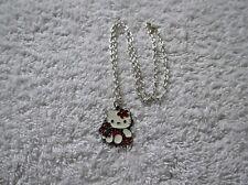 Ex-Display Rojo y Negro Hello Kitty Encanto Colgante Collar Gato Gatito Z