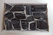 "1 (One) Raw Black Tourmaline Extra Grade Shiny Natural Log Rod: Large 1.5 - 3.0"""