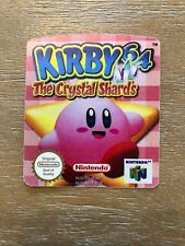 Kirby 64 The Crystal Shards US N64 Nintendo 64 Cartridge Replacement Cart Label