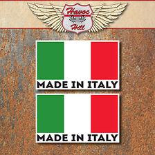 MADE IN ITALY Stickers 2x 60x36mm Car Motorbike Vespa Fiat Alfa Italian Decal