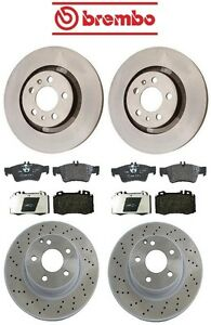For Mercedes W220 S430 03-06 Front & Rear Disc Brake Rotors & Pads Kit Brembo