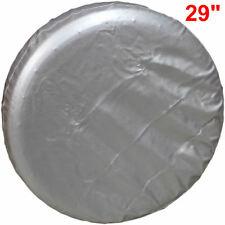 "New 29"" Soft Black Car Spare Tire Tyre Wheel Cover For Toyota RAV4 PRADO Silver"