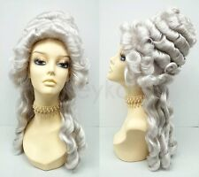 Marie Antoinette Wig Gray Costume Colonial Baroque Historical Masquerade Updo