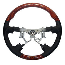 Leather Wood Steering Wheel for 03-07 Toyota Lexus LX470 GX470 Highlander Hiace