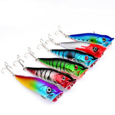 9cm/13g 1PC Popper Fishing Lures 6 Color Plastic Bass Baits Fishing Tackle nEW