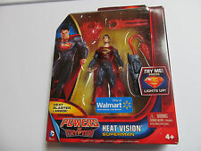 HEAT VISION SUPERMAN ACTION FIGURE lights up Powers Krypton Man Steel series