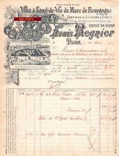 Beau Document du 24/03/1909 LOUIS REGNIER Spiritueux- Dijon 21