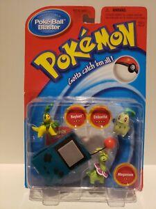 Pokemon Poke Blaster Bayleef/Chikorita/Meganium 2000 NIB Sealed Set
