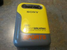 Vintage Sony SRF-85 Walkman Sports Stereo FM/AM Walkman  Yellow