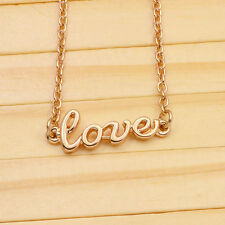love necklace pendant 18 kt gold plated