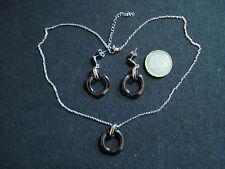 collana e orecchini acciaio ceramica pendolo ciondolo parure bigiotteria regalo