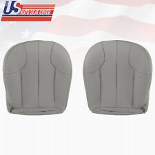 1999 Jeep Grand Cherokee Laredo Driver-Passenger Bottom Leather Seat Cover Gray