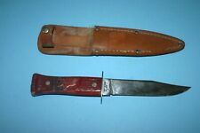 BEAUTIFUL VINTG IMPERIAL HUNTING KNIFE WITH LEATHER SHEATH STAG ELK BUCK HANDLE