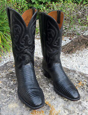 Lucchese Classic Handmade TEJU Lizard Men's Cowboy Western Boots MADE IN USA